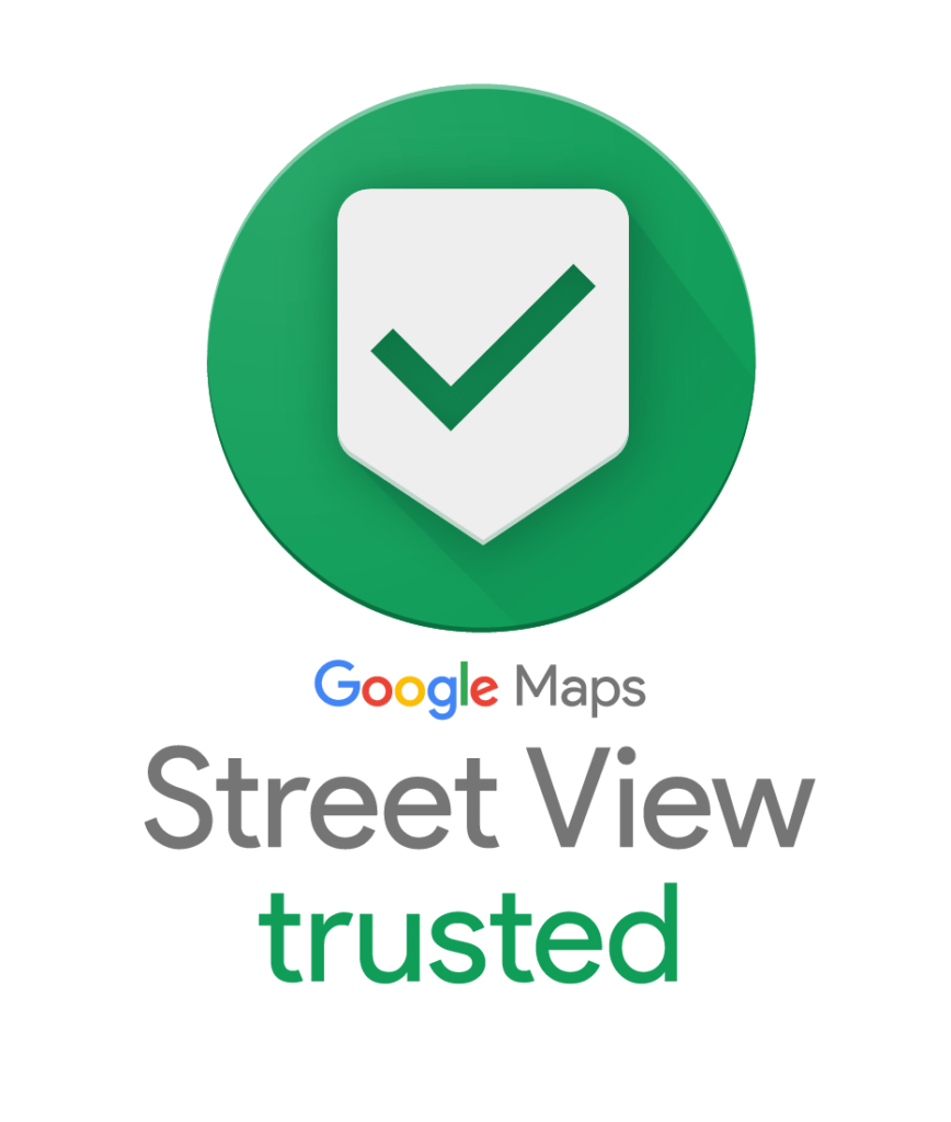 Benzin er en Google Street View Trusted Partner. Badge.